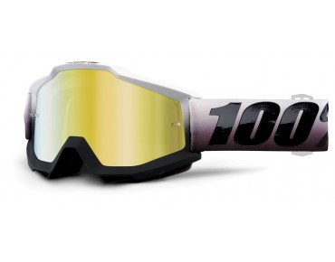 100% ACCURI MIRROR Goggle INVADERS/mirror gold