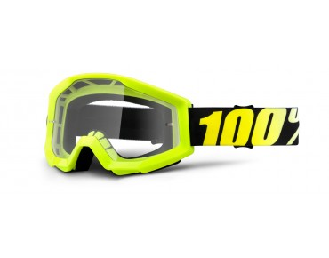 100% STRATA goggles day-glo yellow