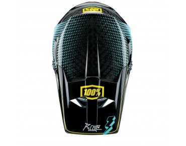 100% AIRCRAFT full-face helmet R-CORE teal