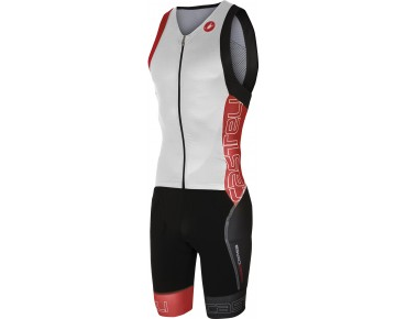 Castelli FREE SANREMO SUIT SLEEVELESS tri suit white/red