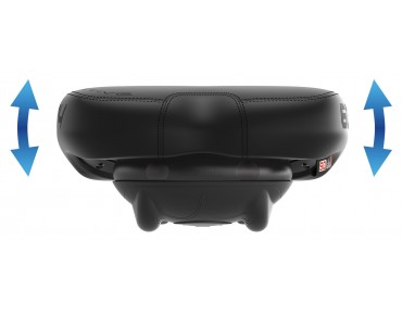 SQlab 604 active trekking saddle black