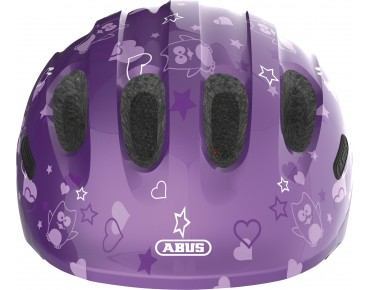 ABUS SMILEY 2.0 Kinder Fahrradhelm purple star