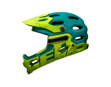 BELL SUPER 3R MIPS All Mountain Fahrradhelm matte emerad/retina sear