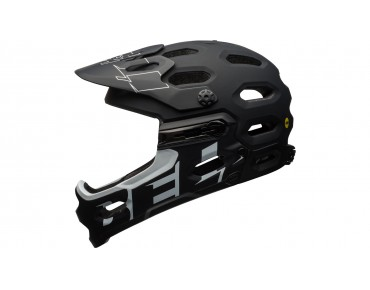 BELL SUPER 3R MIPS All Mountain Fahrradhelm matte black/white
