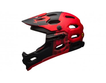 BELL SUPER 3R MIPS All Mountain Fahrradhelm matte red/marsala