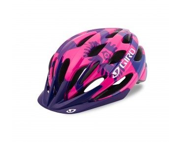 GIRO RAZE kids' cycle helmet berry/blue flowers