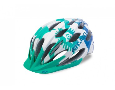GIRO RAZE kids' cycle helmet turquoise/blue teal flowers
