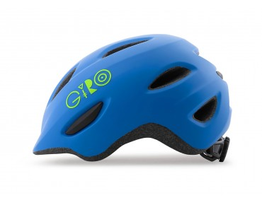 GIRO SCAMP Kinderhelm matte blue/lime