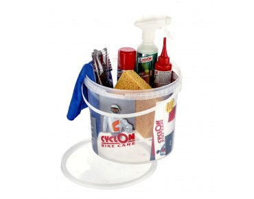 Cyclon Bike Care Kit cleaning kit of seven pieces in a bucket