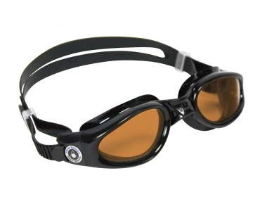 Aqua Sphere Kaiman swimming goggles schwarz/orange Scheibe