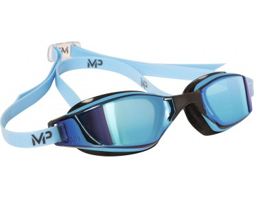 MP Michael Phelps XCEED swimming goggles blue-black/titanium mirrored lens