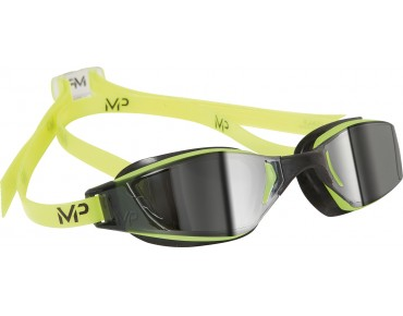 MP Michael Phelps XCEED swimming goggles yellow-black/mirror lens