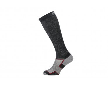 GORE BIKE WEAR GORE FIBER merino winter cycling socks long black melange/graphite grey