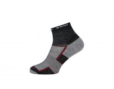 GORE BIKE WEAR GORE FIBER merino winter cycling socks short black melange/graphite grey