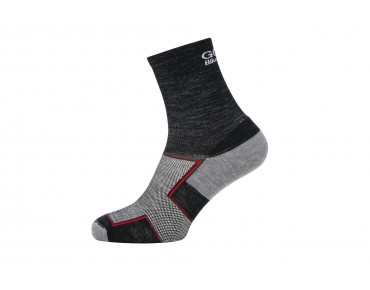 GORE BIKE WEAR GORE FIBER merino winter mid-high cycling socks black melange/graphite grey