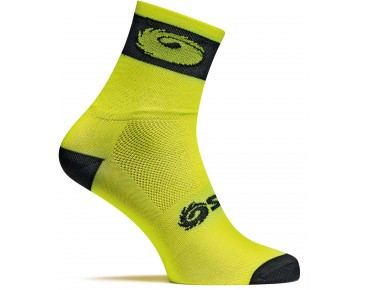 SIDI LOGO cycling socks yellow fluo/black