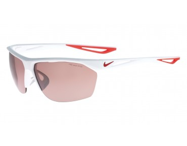 Nike TRAILWIND Sportbrille matte white-university red/speed tint lens