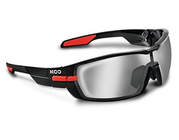 KOO Sportbrillen Set black/red