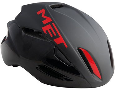 MET MANTA HES Rennradhelm black/red