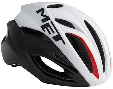 MET RIVALE HES road helmet white/black/red