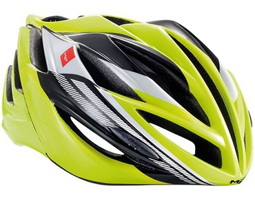 MET FORTE Rennradhelm safety yellow/black/white