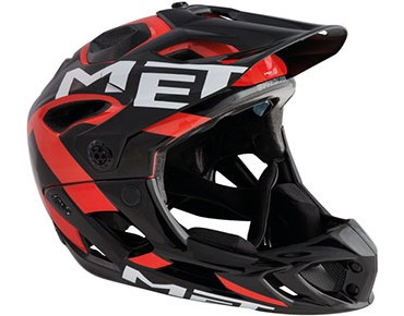 MET PARACHUTE Vollvisierhelm black/red