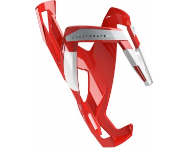 Elite Custom Race Plus bottle cage red/white