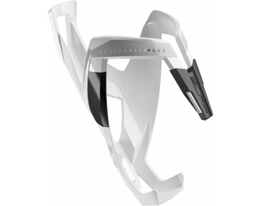 Elite Custom Race Plus bottle cage white/black