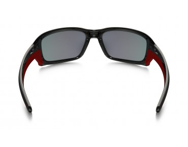 OAKLEY STRAIGHTLINK Brille polished black w/torch iridium polarized