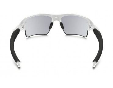 OAKLEY FLAK 2.0 XL glasses polished white/clear to black photochromic