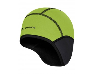 VAUDE BIKE WINDPROOF CAP III helmet cap black/chute green