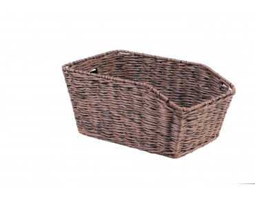 Unix MORINO rear bicycle basket for permanent installation reed brown