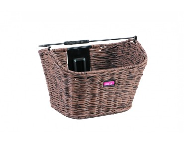 Unix MANOLO front bicycle basket reed brown
