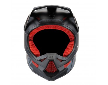 100% THE STATUS full face helm black meteor