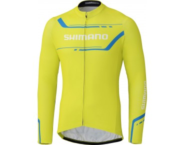 SHIMANO WINTER PRINT Langarm Trikot lime yellow