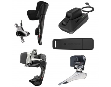 SRAM Red eTap Wifli HRD groupset with hydraulic disc brake, up to max. 32 teeth