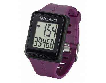 Sigma ID.GO heart rate monitor watch incl. chest strap plum