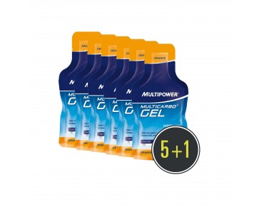 Multipower Multicarbo Gel 5+1 set offer orange + platinosis