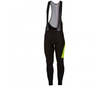 Castelli VELOCISSIMO 3 thermal bib tights black/yellow fluo