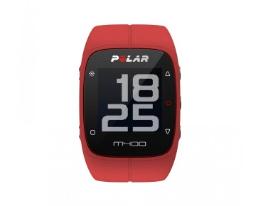 Polar M400 HR sports watch red