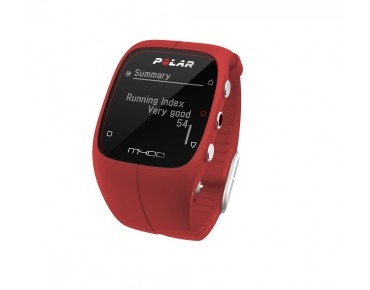 Polar M400 HR GPS training watch red
