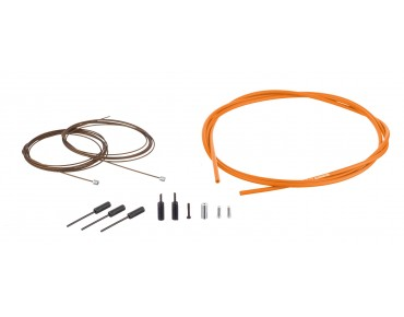 SHIMANO Dura Ace gear cable kit, polymer-coated orange