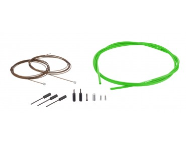 SHIMANO Dura Ace gear cable kit, polymer-coated green