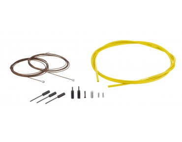 SHIMANO Dura Ace gear cable kit, polymer-coated yellow
