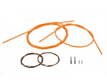 SHIMANO Dura Ace, polymer-coated for BR-9000 - set cavi freno Orange