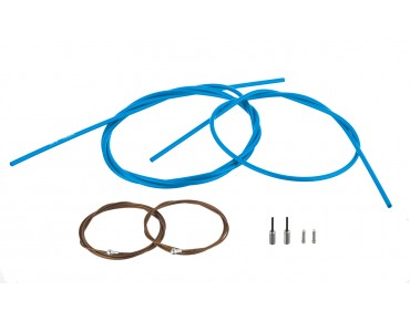 SHIMANO Dura Ace brake cable kit, polymer-coated for BR-9000 blue