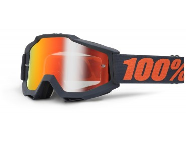 100% ACCURI MIRROR goggles gunmetal/mirror red