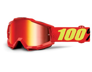 100% ACCURI MIRROR goggles SAARINEN/mirror red