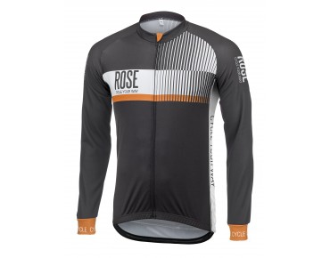 ROSE TOP CYW thermojersey met lange mouwen black/white/orange