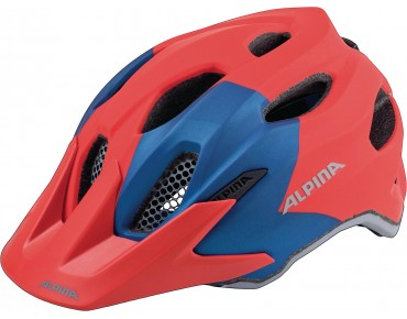 ALPINA CARAPAX JR. - casco bambino red/blue